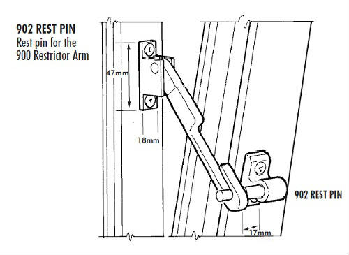 Pivot Window And Sash Restrictors